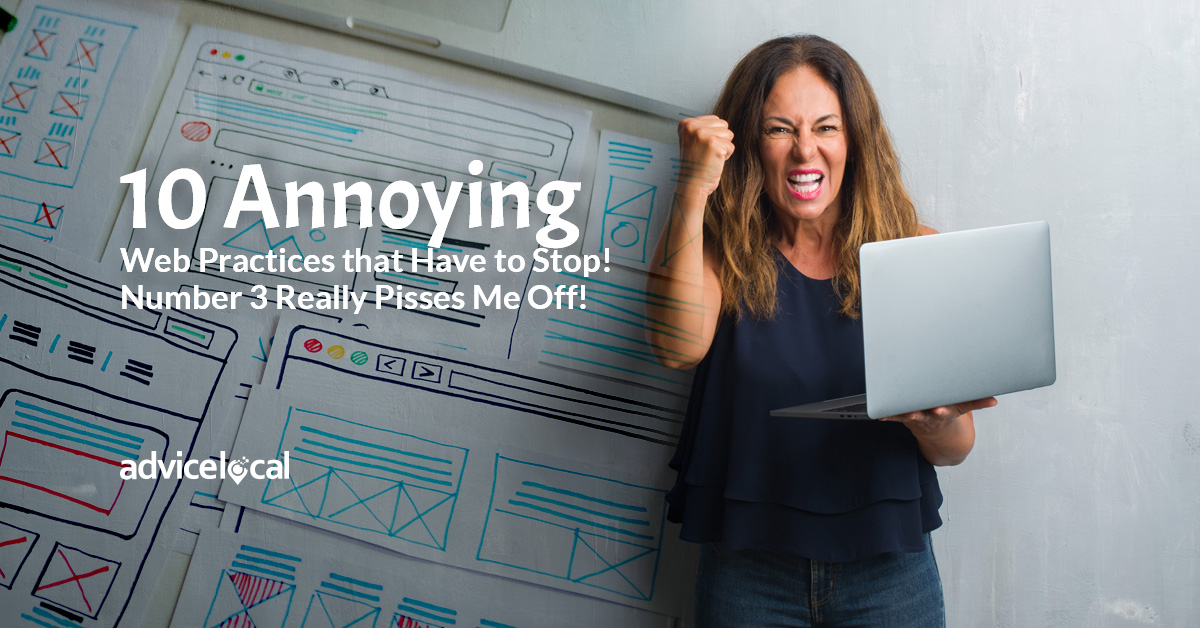 10 Annoying Web Practices that Have to Stop!