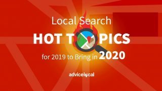 The hot topics of 2019 in local search, including Google My Business, Bing Places, local directories and more.