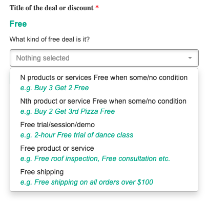 Bing Places Dashboard - Deal Example