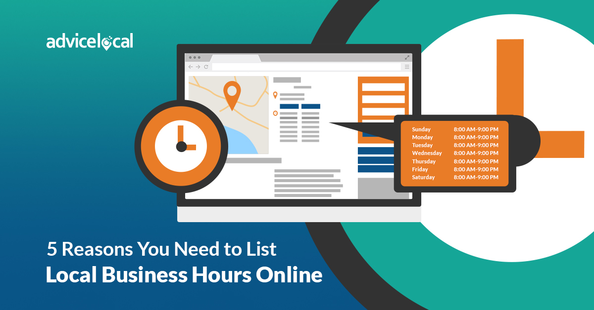 5 Reasons You Need to List Local Business Hours Online