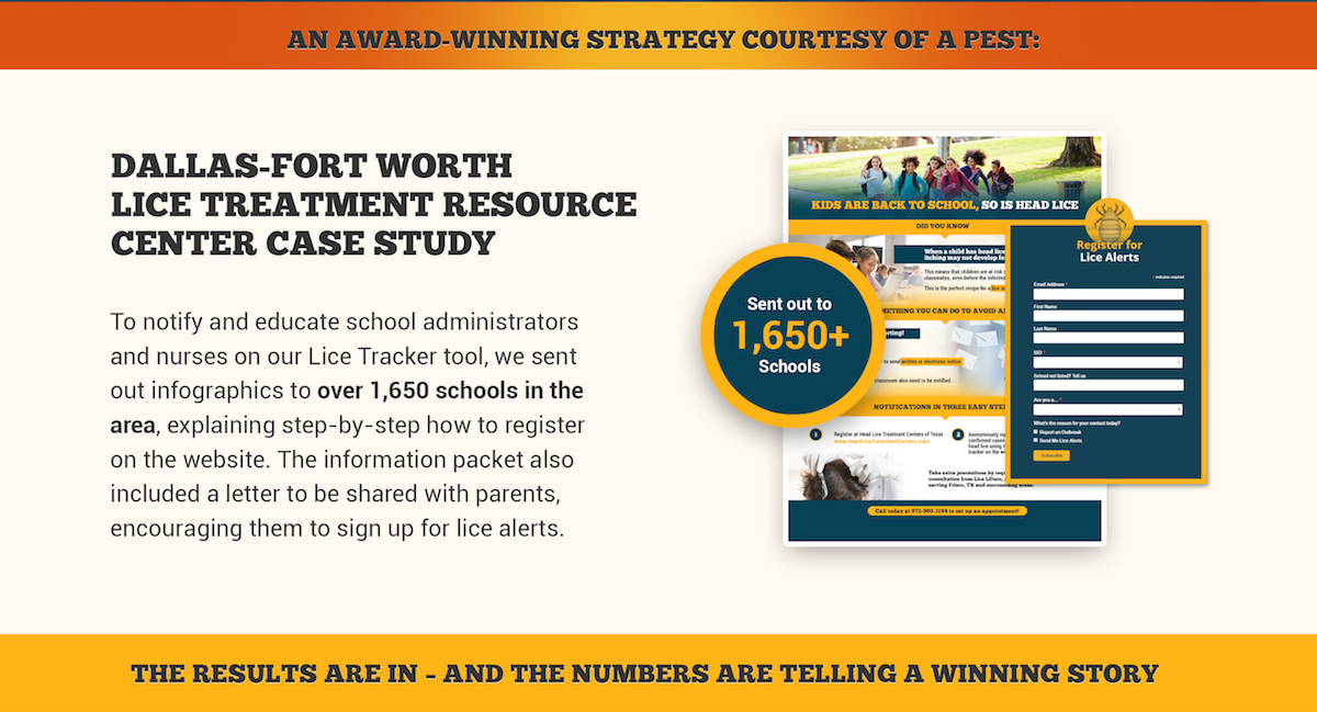 Dallas-Fort Worth Lice Treatment Resource Center Case Study