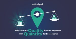 Why Citation Quality is More Important than Quantity for Local Search