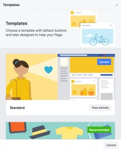Facebook creates page templates to help businesses increase visibility facebook page new templates accmission Choice Image