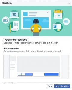 facebook creates page templates to help businesses increase visibility