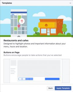 Facebook Creates Page Templates To Help Businesses Increase Visibility - About page template