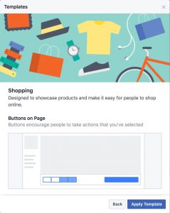 Facebook creates page templates to help businesses increase visibility facebook templates shopping view friedricerecipe Image collections