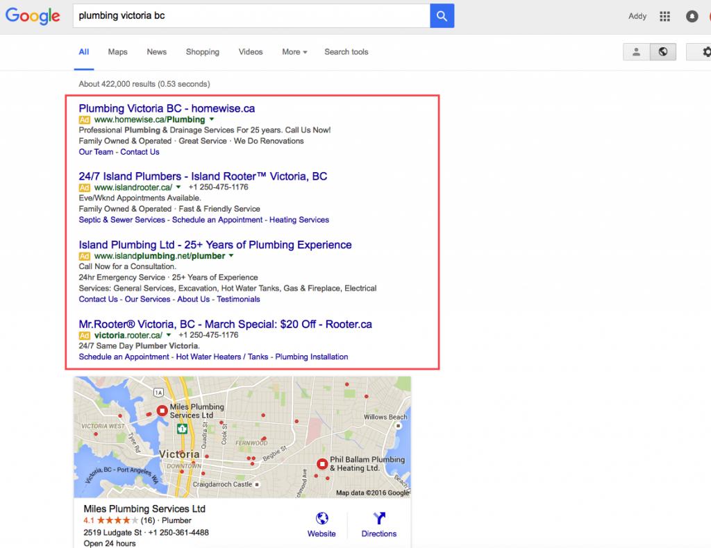 Google ads after