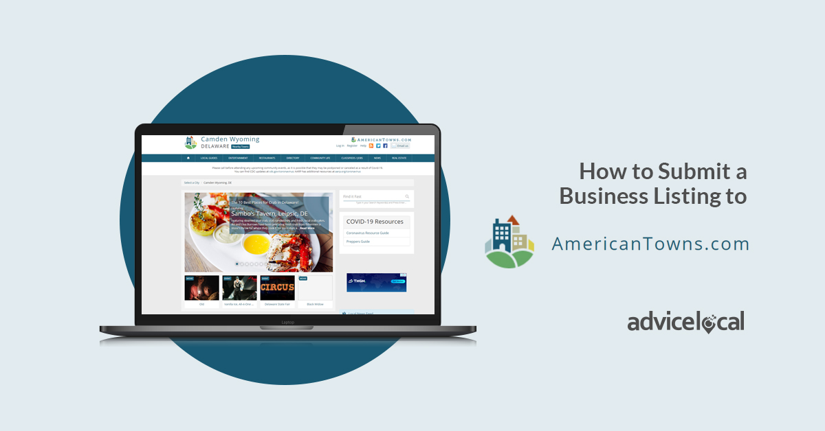 How to Submit a Business Listing to American Towns
