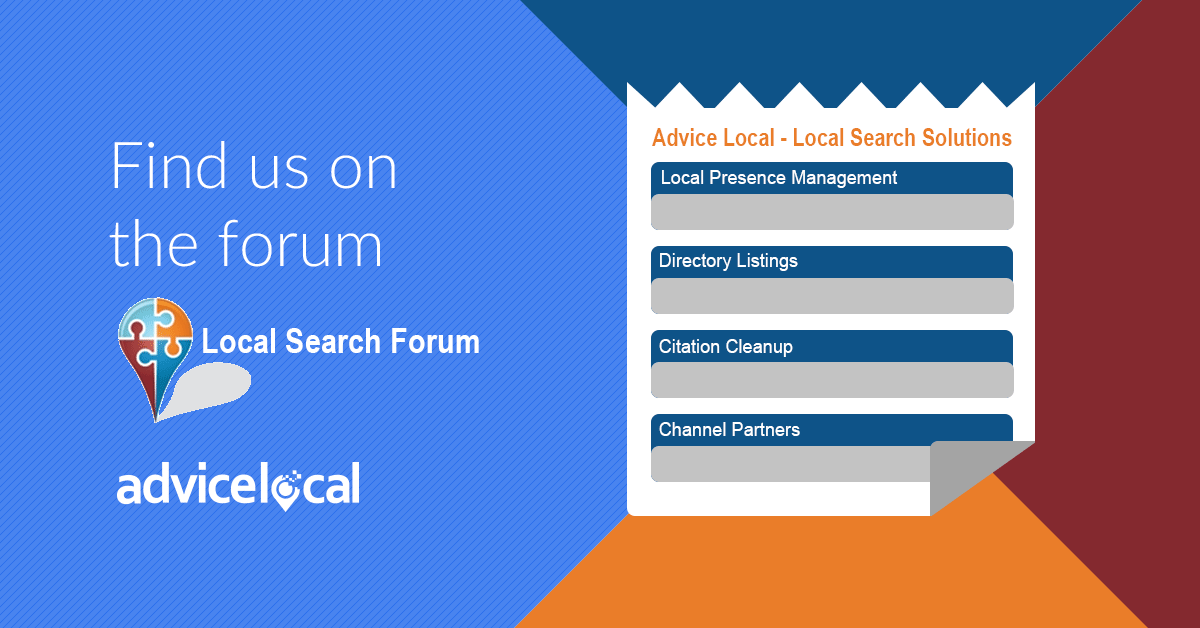 Find Us On Local Search Forum