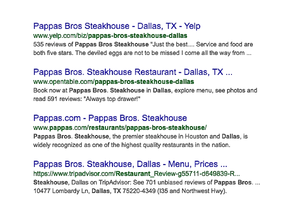 Papas steakhouse