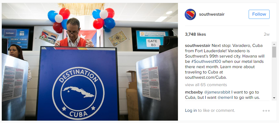 southwest-air-instagram-marketing