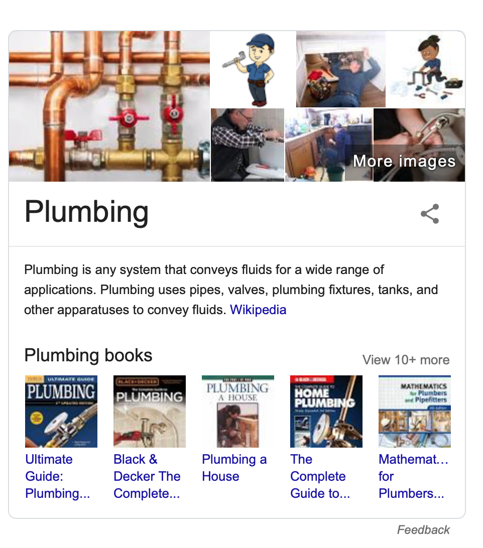 answer box example - plumber