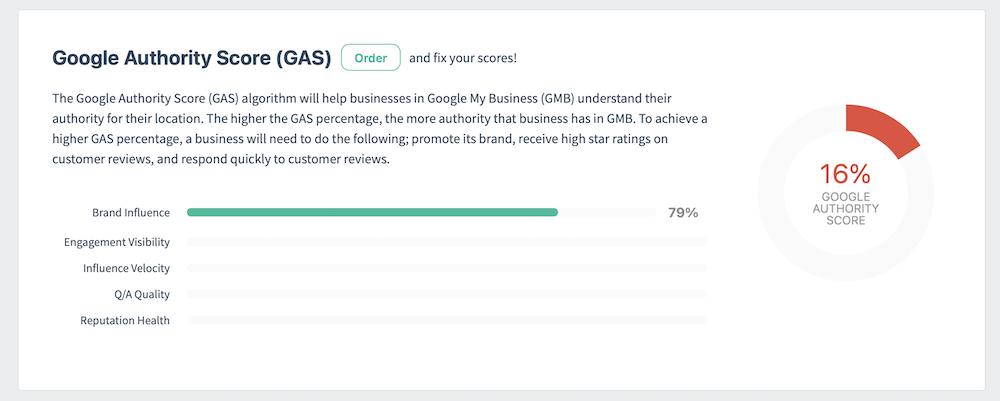 Google Authority Score Baseline Report Example