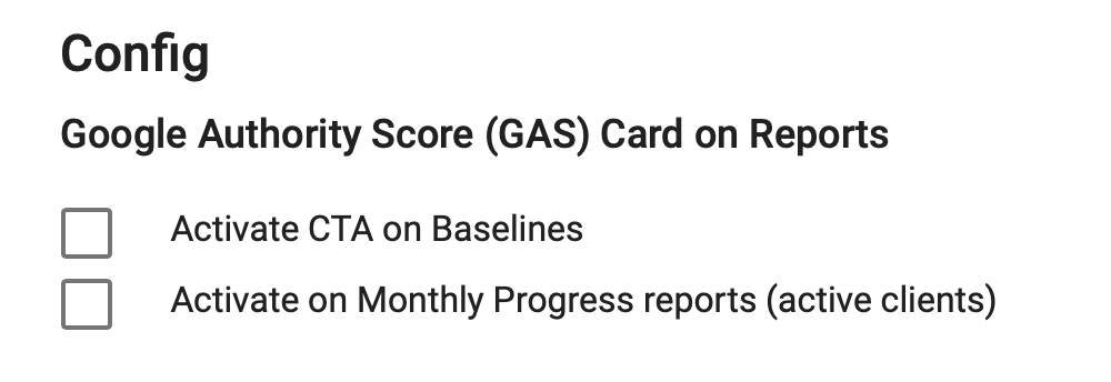 Google Authority Score Configuration Example