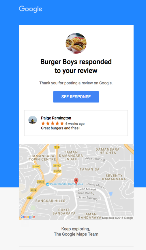 Google My Business Review Notifications