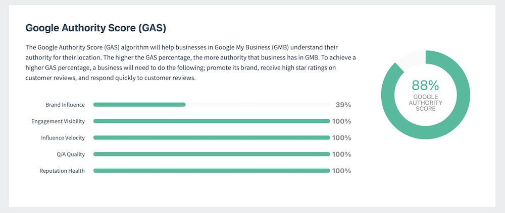 Google Authority Score Progress Report Example