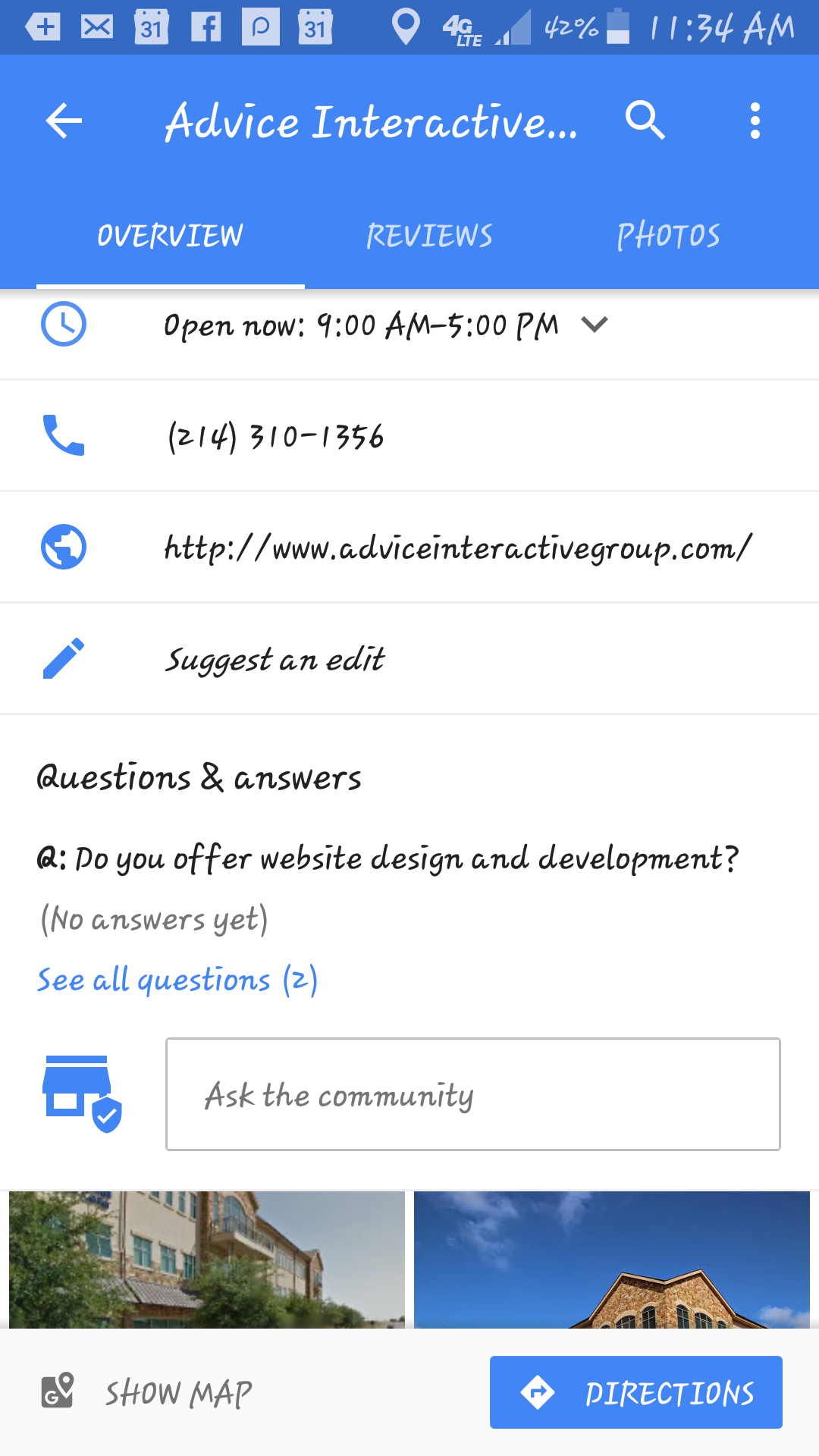 Google Maps Q and A Feature