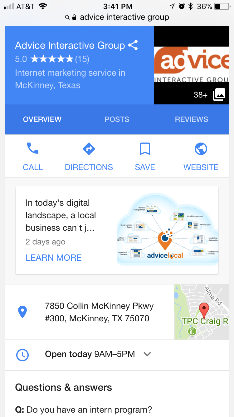 Google My Business - Community Q & A Feature