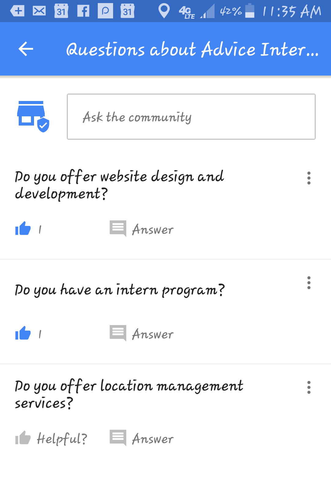 Google My Business Maps Questions