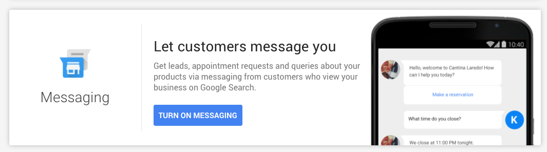How to Turn on Google My Business Messaging Feature