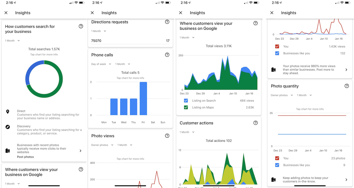 Navigating the Google My Business Insights via the Mobile App
