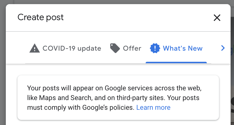google posts third party message