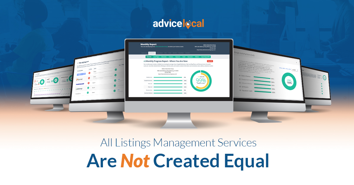 Differences in Listings Management Services | Advice Local