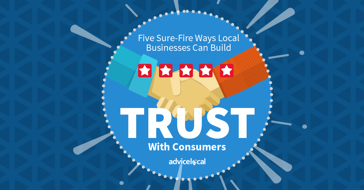 Local businesses can build trust with potential and current customers by placing an emphasis on human interaction and being transparent.