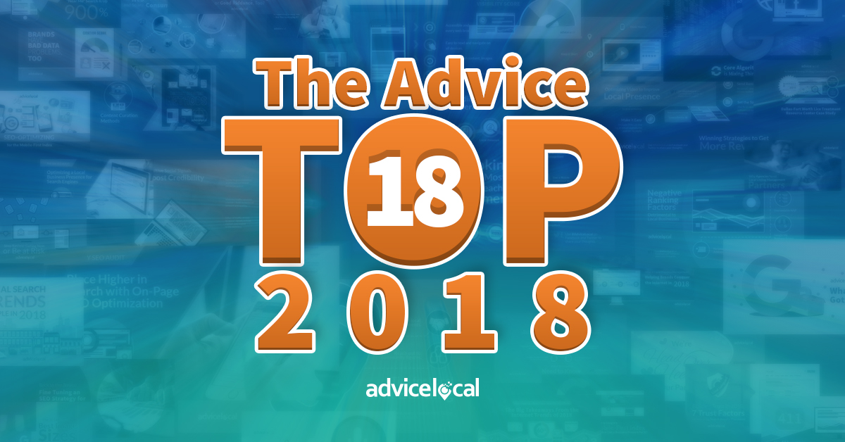 The Top Hits of 2018 to Help You Conquer Local Search in 2019 and Beyond