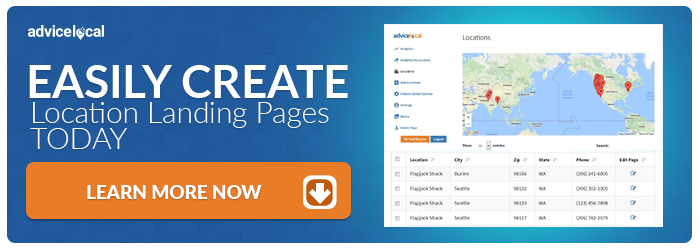 Location Landing Pages