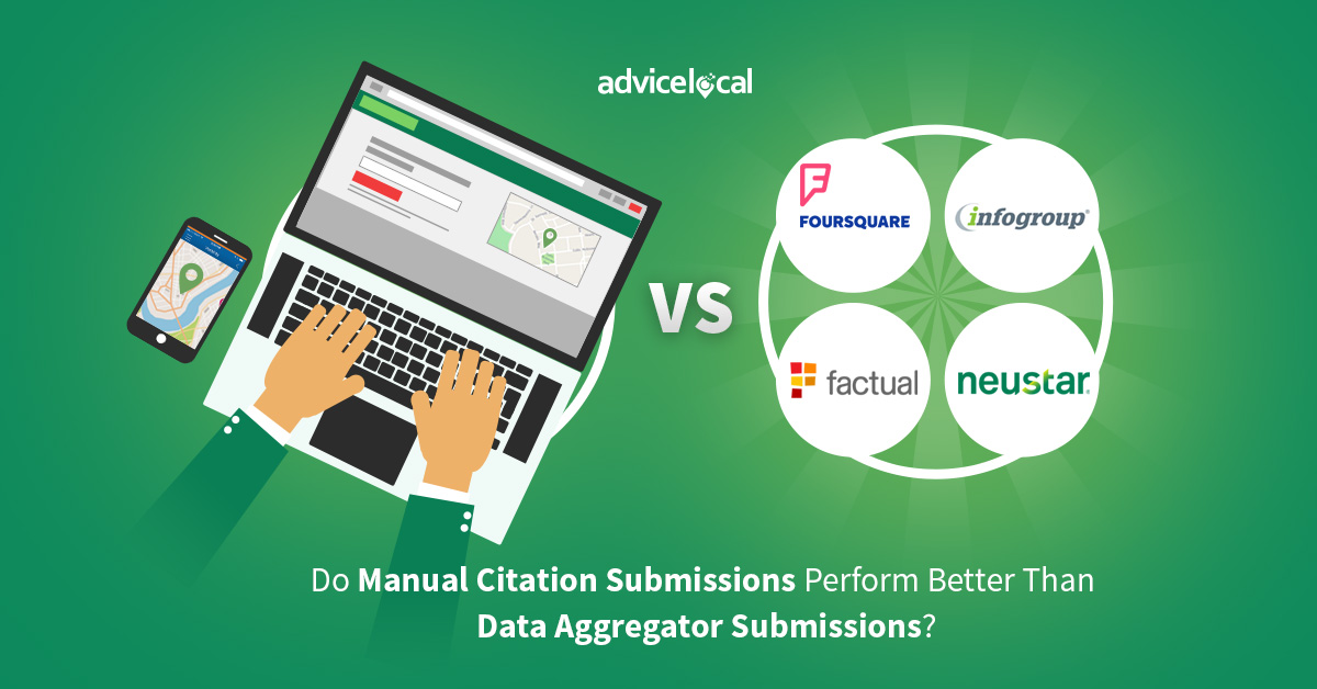 Understanding the Differences Between Manual Citation Submissions Perform Better Than Data Aggregator Submissions
