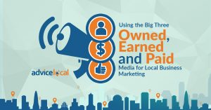 Understanding how to use owned, earned and paid media to create a local marketing strategy.