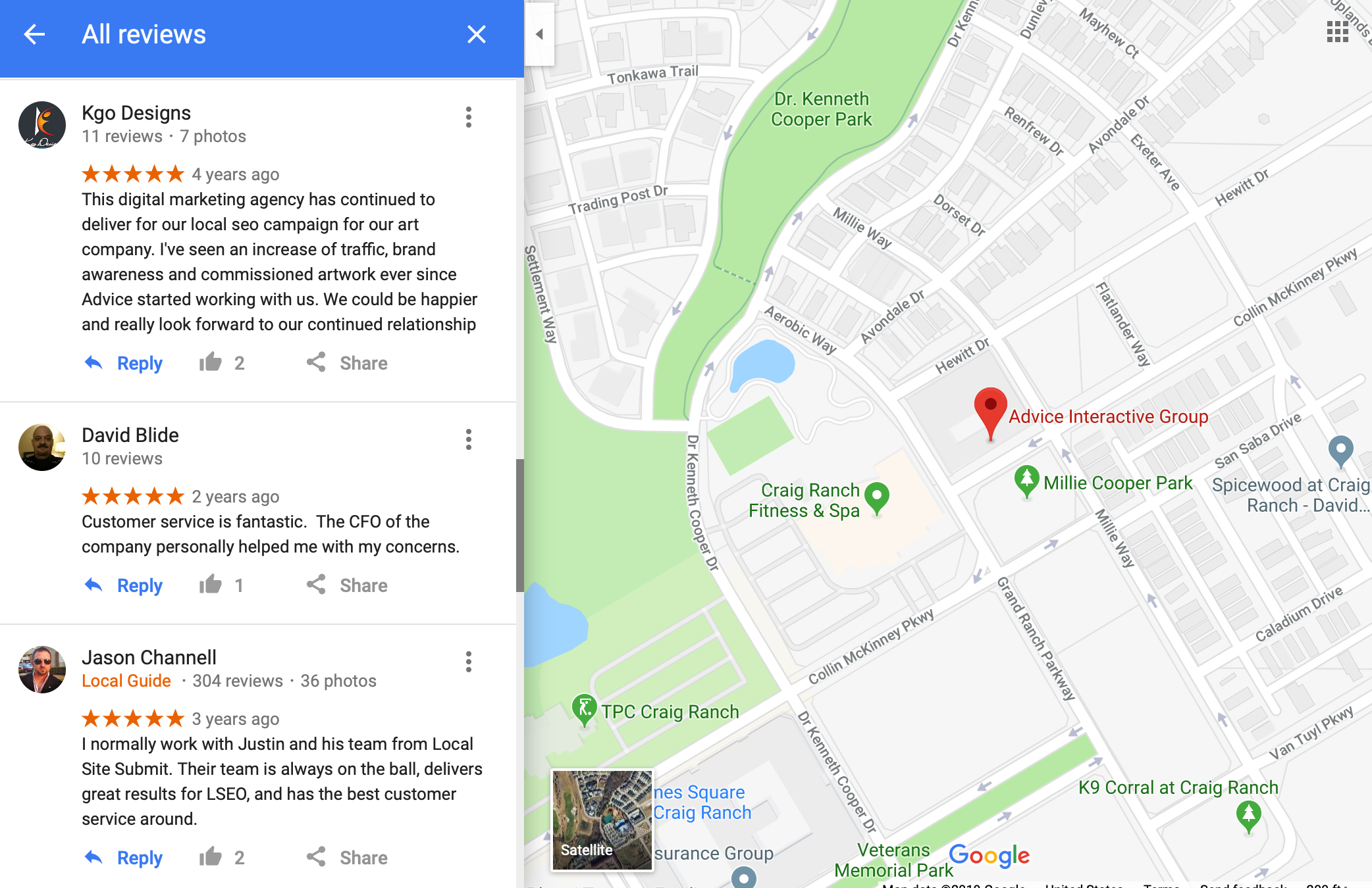 example of how to respond to a review on google maps