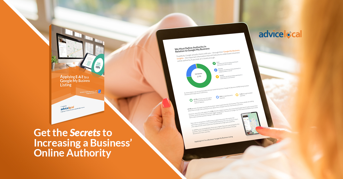 Get the Secrets to Increasing a Business' Online Authority | Advice Local