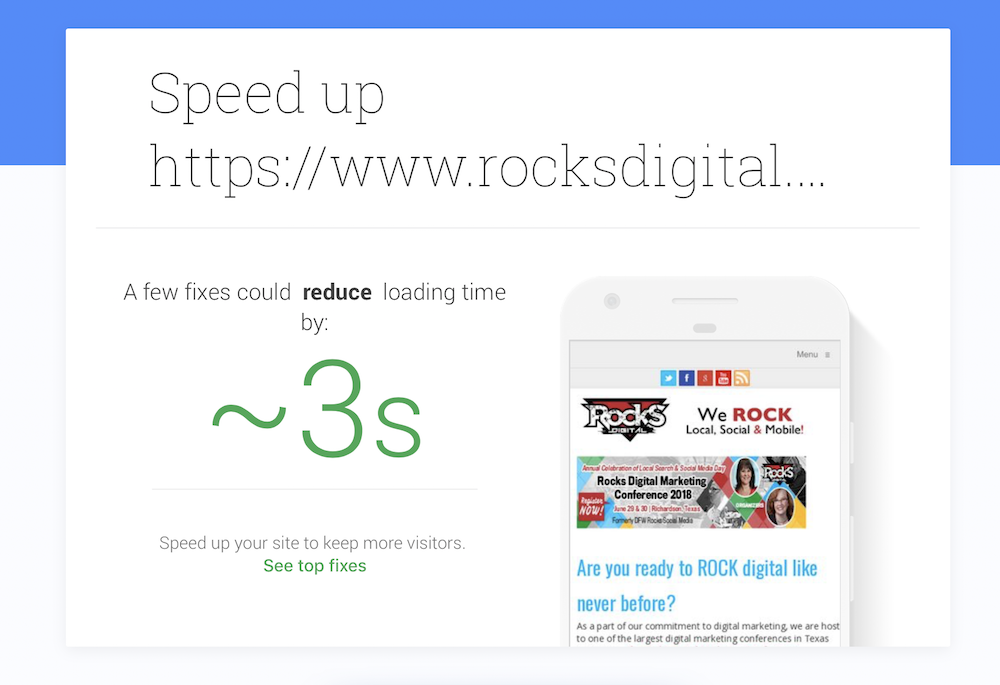 How to Speed Up a Mobile Site