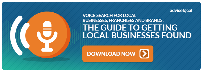 Download the Voice Search for Local Businesses, Franchises and Brands Guide [ad]