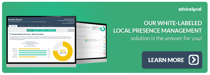 White-Labeled Local Presence Management Solution