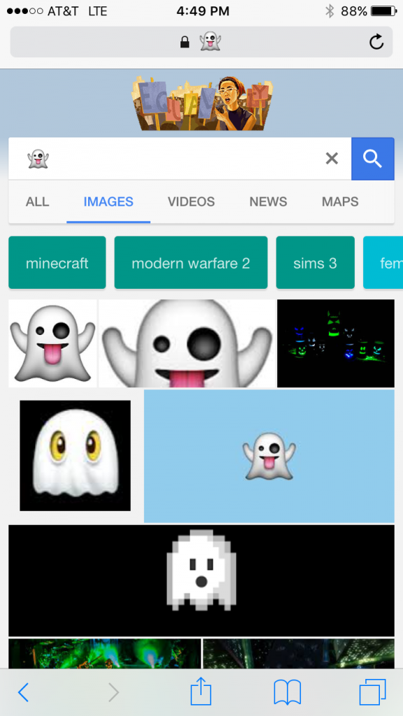 Ghost Emoji Google Search Results
