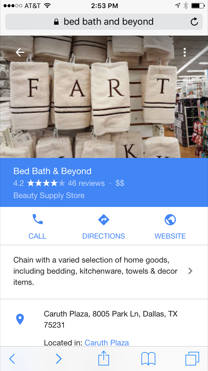Google My Business Photo Mishap