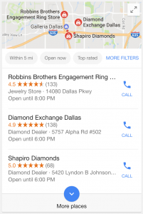 Google Local Pack Mobile