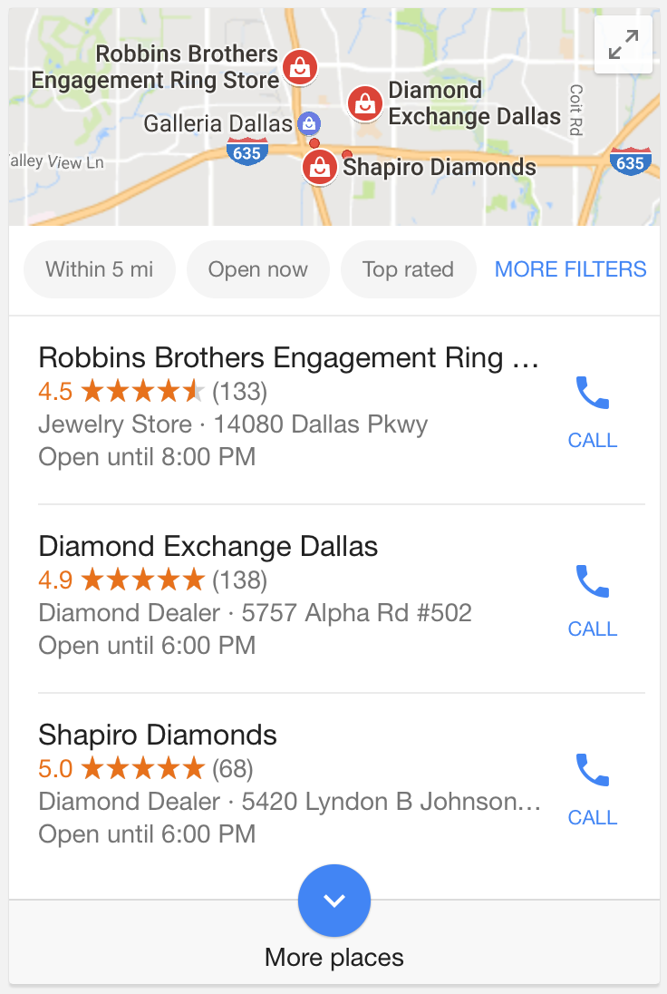 Google-local-pack -mobile