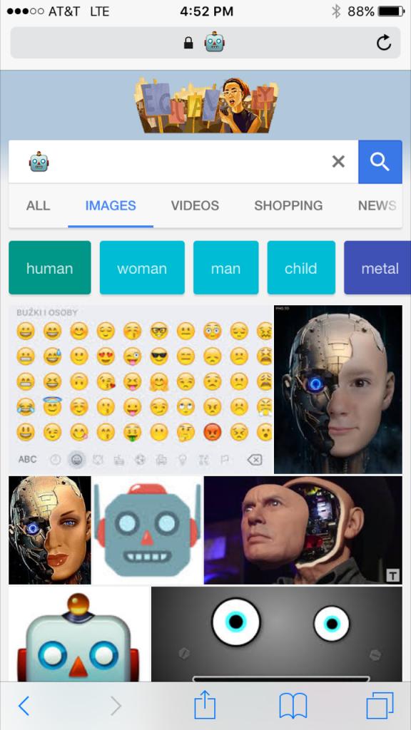 Robot Emoji Google Search Results
