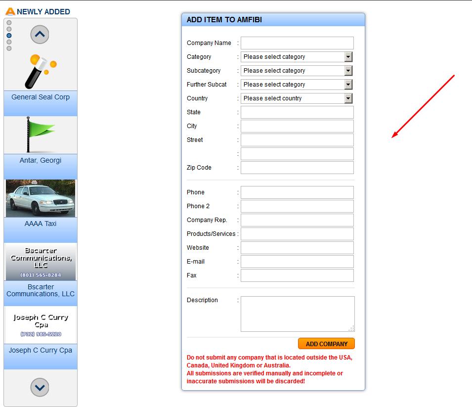 Amfibi Business Listing Step 7