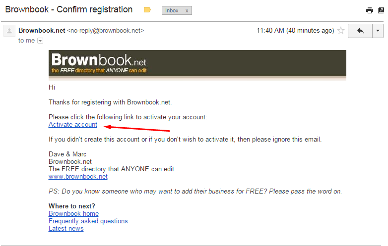 Brownbook Business Listing step 4