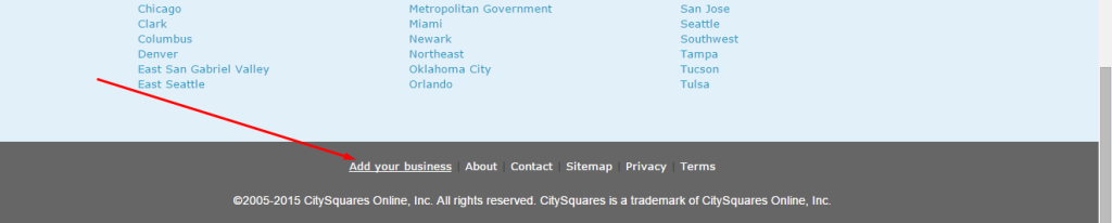 City Squares Business Listing Step 5