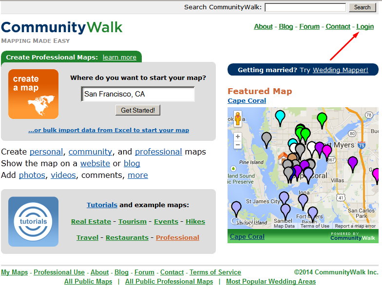Community Walk Business Listing step 1