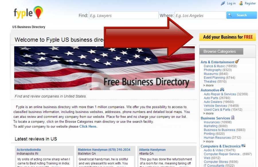 how to add your business to yahoo local
