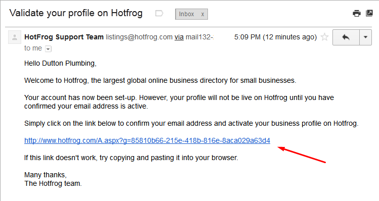 Hotfrog Business Listing Step 4