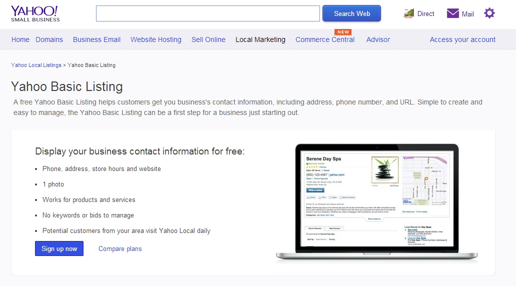 To Add A Business Listing To Yahoo Local