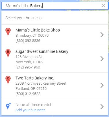 adding a google local business listing